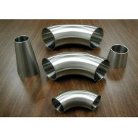 Quality Food Industrial Stainless Steel Sanitary Fittings Weld 90 Degree Elbows for sale