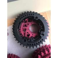 Quality Red / Black Anodized CNC Machining Parts for Bicycle Accessories / Toothed Wheel for sale