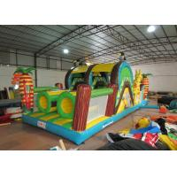 Quality Small Forests Theme Inflatable Obstacle Courses Colourful Digital Printing 10 X 3.8m for sale