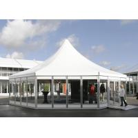 China Hexagon Clear Span Pagoda Canopy Party Tent , Clear Span Steel Buildings on sale