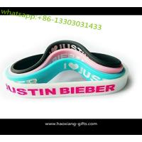 Buy cheap Factory custom charm silicone  bracelet promotional debossed silicone wristband from wholesalers