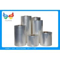 Quality 45mic Transparent Blown PVC Sleeve Label Film Rolls For Cans Label for sale