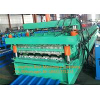 Quality Color Steel Glazed Tile And Roofing Sheet Forming Machine 8-12m/Min Speed for sale