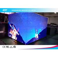 Quality Seamless Splici Indoor LED Video Walls , Large LED Display Panels P3mm 90 Degree Angle for sale