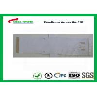 Quality White Color Flexible PCB Design Single Sided with Immersion Gold for sale