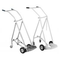Quality SS 201/304 Oxygen Tank Trolley , Foldable Medical Oxygen Cylinder Trolley for sale