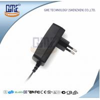 Quality Black Wall Mount Power Adapter EU Plug 90V - 264V AC GS CE Approved for sale