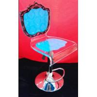 Quality Colorful Modern Acrylic Furniture / Acrylic Chair With Rolling Base for sale
