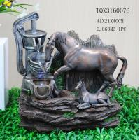 Quality Horse Animal Large Resin Water Fountain With Flashing Light 40 X 30 X 41 Cm for sale