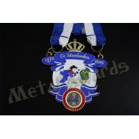 Durable Custom Insert Medals , Crown Awards Medals Antique Silver Plating