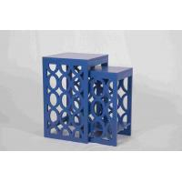 Quality Blue Modern Nesting Tables , Ergonomic Wooden Bedside Table 58 Cm Height for sale