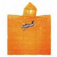 Quality Emergency Poncho, Made of 0.03mm PE Material for sale