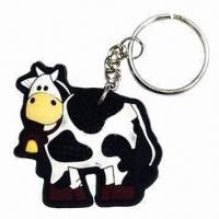 Quality Fancy Keychain, Made of PVC, Customized Designs are Accepted for sale