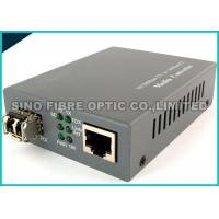 China Grey Optical Fiber Media Converter 100Base-FX Single Mode 2Km 1310Nm Wavelength on sale