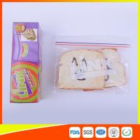 Quality Food Grade LDPE Double Zipper Plastic Zip Lock Bags For Food , Eco Friendly Sandwich Bags for sale