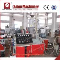 Quality pp pe single wall corrugated threading pipe production line pipe making machinery for sale