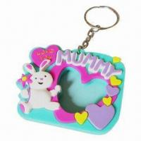 Quality Silicone Photo Frame Keychains for Promotion, OEM Orders Welcomed for sale