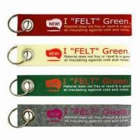 Quality Remove Before Flight Small Felt/Nonwoven Keychains for sale