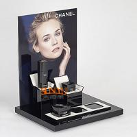 Quality Classical Black Acrylic Makeup Display Stand L Shaped  Detachable Vertical Part for sale
