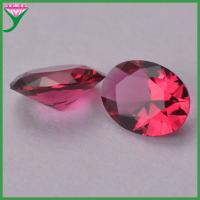 wholesale oval egg diamond cut rose colored glass semi-precious stone for sale