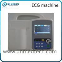 China Three Channel ECG Machine with touch screen, PC software optional on sale
