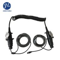 Quality Male To Female Rear View Camera Cable 7 Pin Din Connector Spiral Trailer Cable for sale