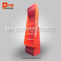 Quality Eco-friendly Floor Corrugated Pop Display With Hooks For Hardware Fitting for sale