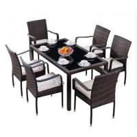 China Hotel PE Rattan wicker chair Aluminium Outdoor Garden Patio stackable chair and table for sale