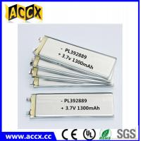 Quality PL392889 3.7V 1300mAh lithium polymer battery for sale