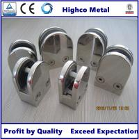 Quality Stainless Steel Middle D Shape Flat Glass Clamp 63x45mm Fit 10.76-12.76mm Glass for Glass Railing and  Handrail for sale