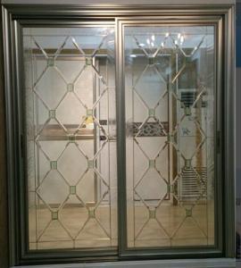 Quality decorative glass panels in French door/wooden door for sale