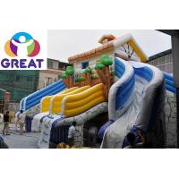 Buy high quality large inflatable water slide with pool with warranty 48months GTWP at wholesale prices