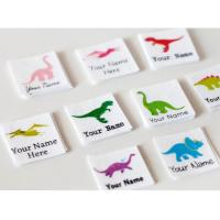 Quality Kids Animal Design Custom Printed Clothing Labels Cotton Printed Dinosaur for sale