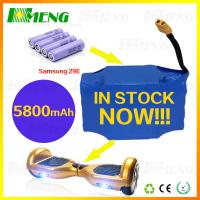 China Smart Self Balancing Scooter Rechargeable Battery Pack Made Of Samsung Batteries on sale