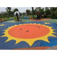 Quality Anti Static Playground Rubber Flooring Customized Colors Corrosion Resistant for sale