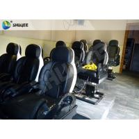 Quality 3 DOF Pneumatic System 5D Movie Theater Luxury Black Chair Yellow 3D Glasses for sale