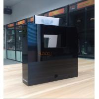 Buy White Acrylic Retail Window Displays For Bluetooth Speaker Laser Engraving at wholesale prices