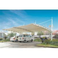 Quality Sun Shade Tension Membrane Structures For Car Parking With PVDF Roof Cover for sale