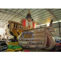 Quality Big Dinosaur Inflatable Pirate Ship With Slide 12 X 4.4 X 6.7m Enviroment - Friendly for sale