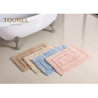 Quality Thick And Big Plush Bathroom Rugs / Hotel Washable Bath Mat for sale