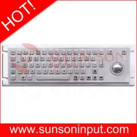 Buy 66 key Industrial Metellic Keyboard for Vending machine,with trackball,USB connector at wholesale prices