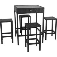 Quality Bar table chair rattan outdoor furniture set for sale