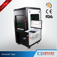 Buy cheap 100W Fully Enclosed Fiber Laser Marking Machine for Printing Logos on Stainless from wholesalers