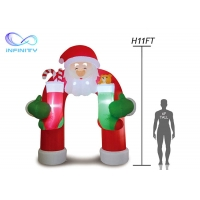 Quality 210D  Christmas Inflatable Santa Archway For Advertisement for sale