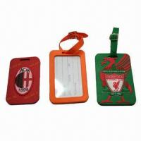 Quality Bulk Luggage Tags, Made of PVC with Customized Designs/Logos, Small Quantity, Mix Orders Welcomed for sale