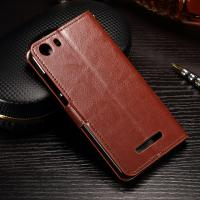 Quality PU Leather Wiko Lenny 2 Flip Cover , Anti - Slip Leather Phone Wallet OEM for sale