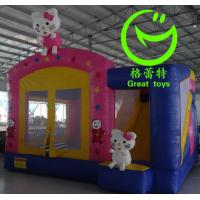 Quality 2016 hot sell Hello Kitty  inflatable bounce house with 24months warranty from GREAT TOYS for sale