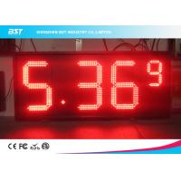 Quality Red Semi Outdoor Led Gas Price Display With High Brightness 5000cd/sqm for sale
