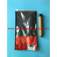 Quality Customized Printed Small Cigar Humidor Bags / Cigar Packaging Bag for sale