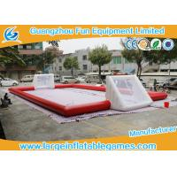 Buy cheap Red Inflatable Football Pitch , Inflatable Soccer Arena Flor Adult Or Children from wholesalers